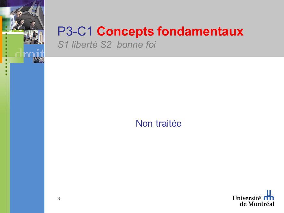 3 P3-C1 Concepts fondamentaux S1 liberté S2 bonne foi Non traitée
