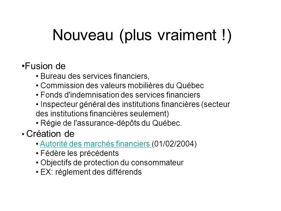 Fusion de Bureau des services financiers, Commission des valeurs mobilières du Québec Fonds d'indemnisation des services financiers Inspecteur général