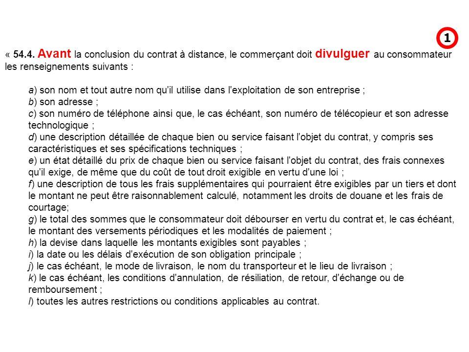 16) contrat à distance art.54.1.