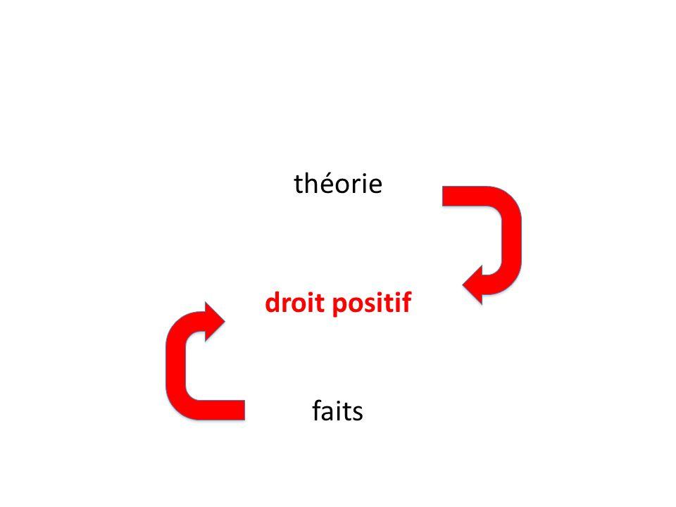 théorie droit positif faits