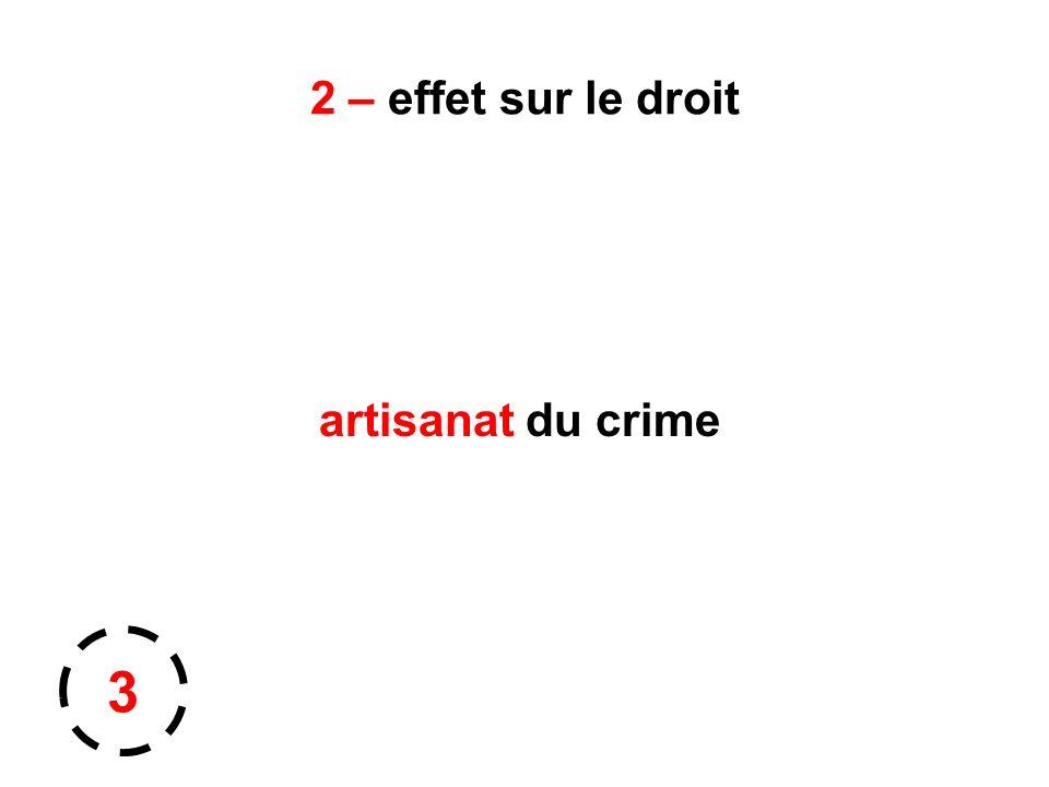2 – effet sur le droit artisanat du crime 3