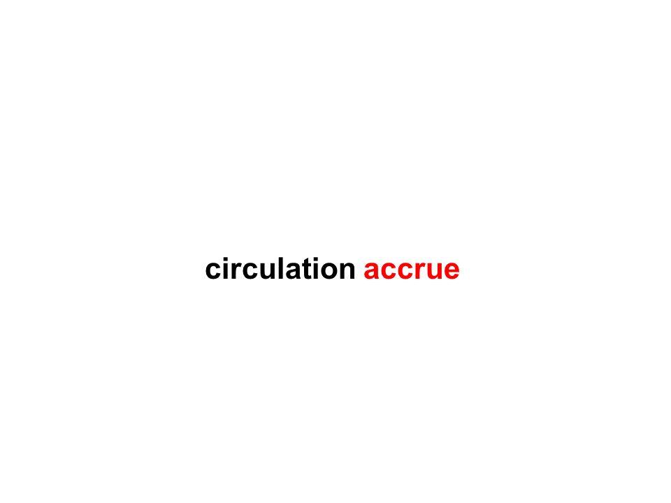 circulation accrue