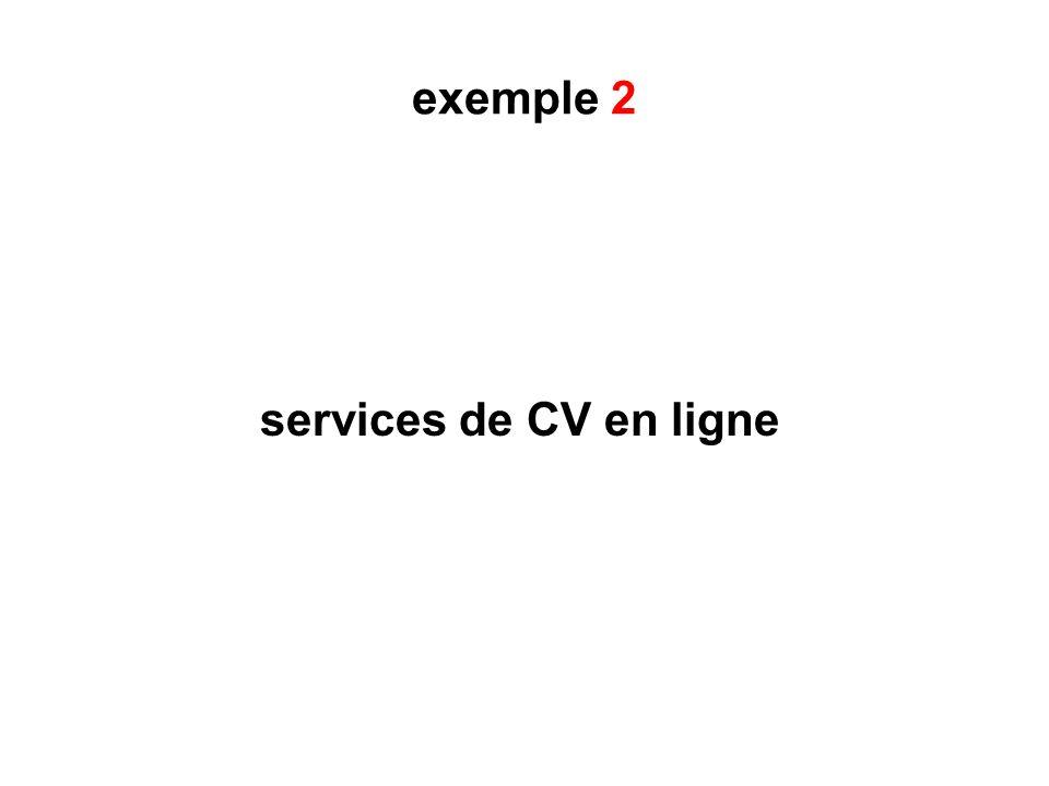 exemple 2 services de CV en ligne