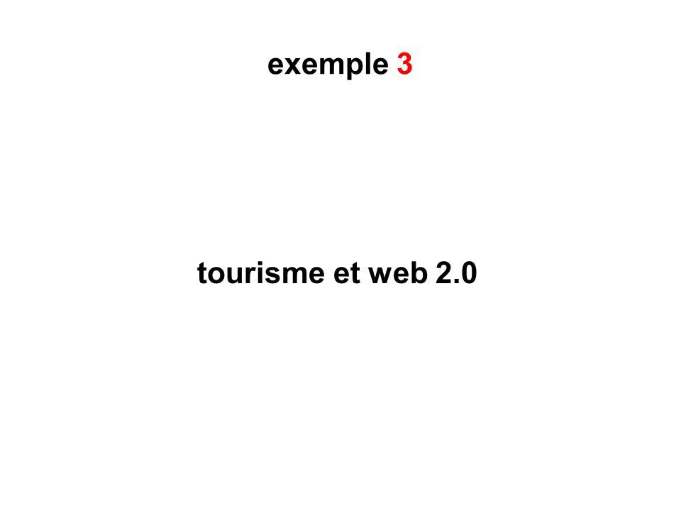 exemple 3 tourisme et web 2.0