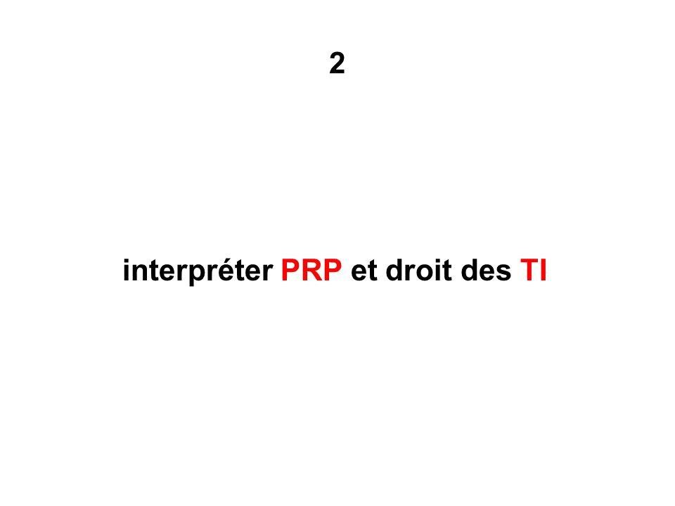 2 interpréter PRP et droit des TI