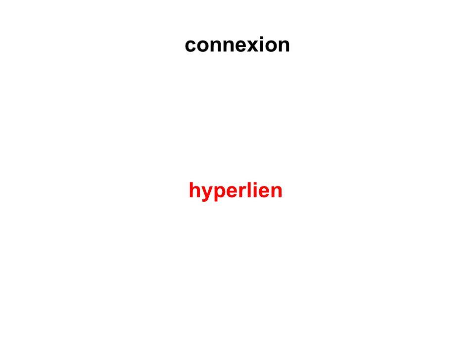connexion hyperlien