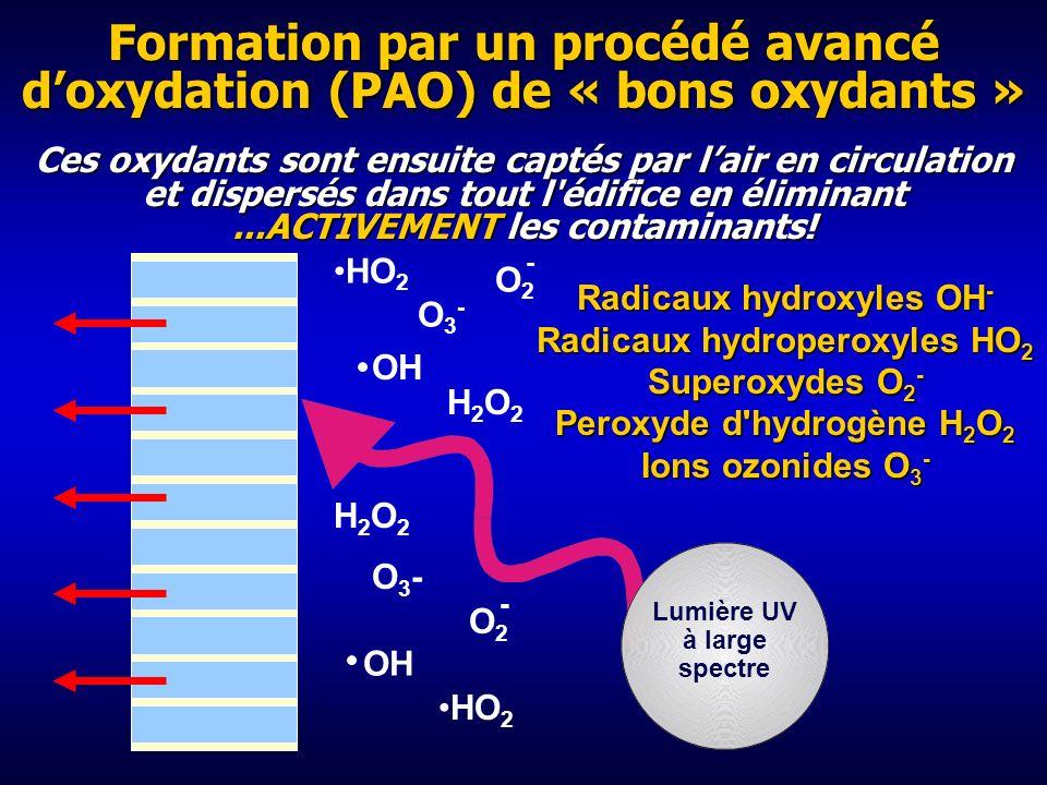 Les rayons de 254 nm décomposent l'ozone 254 nm Les rayons de 254 nm scindent les molécules d'O 3 en molécules d'O 2