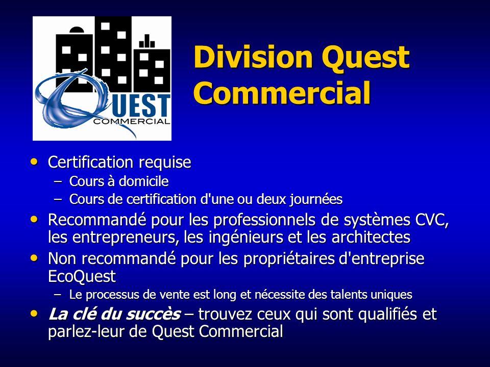 Division Quest Commercial 17 produits uniques de purification de l'air pour utilisation commerciale et industrielle 17 produits uniques de purificatio