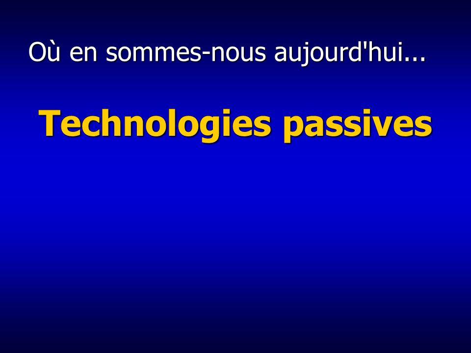 Où en sommes-nous aujourd hui... Technologies passives