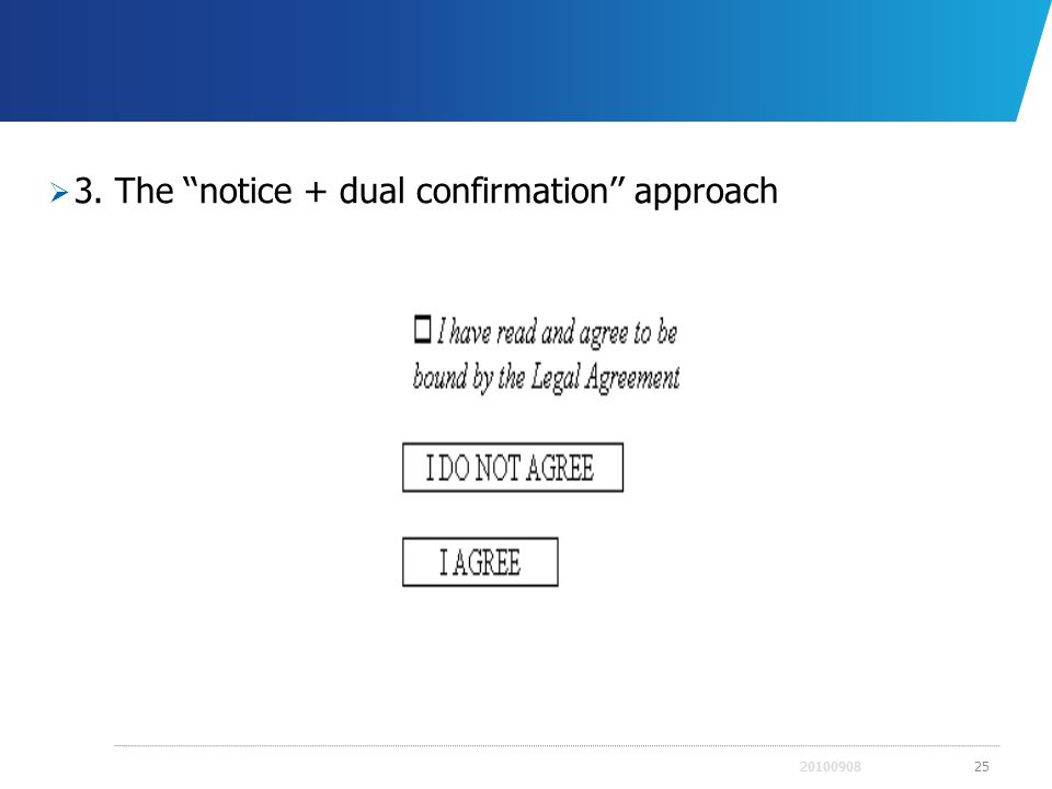 3. The notice + dual confirmation approach 2010090825