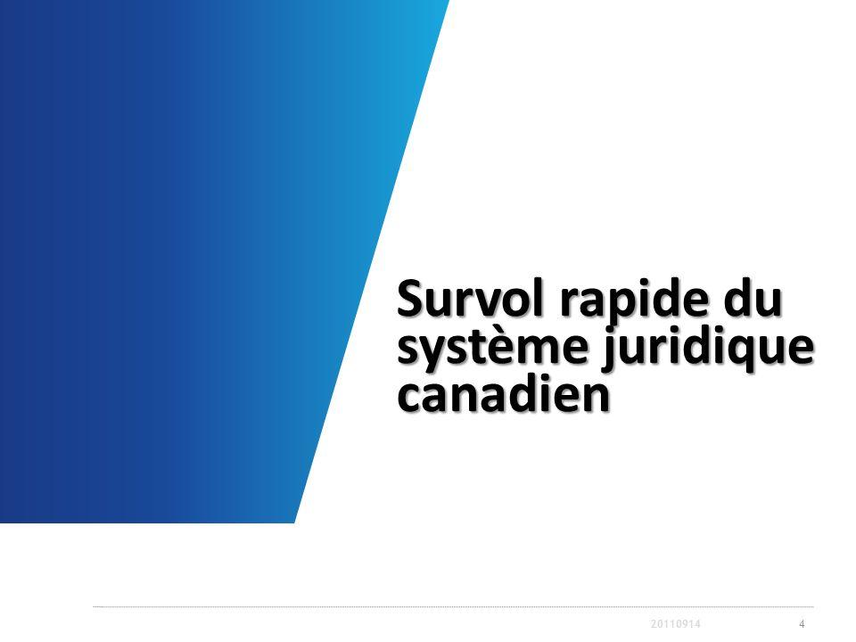 Survol rapide du système juridique canadien 420110914