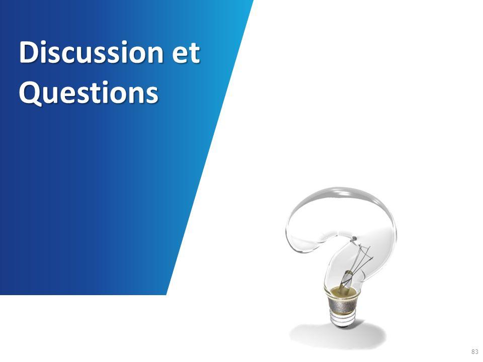 Discussion et Questions 83