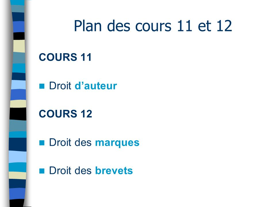 COURS 11