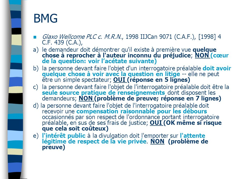BMG Glaxo Wellcome PLC c.M.R.N., 1998 IIJCan 9071 (C.A.F.), [1998] 4 C.F.