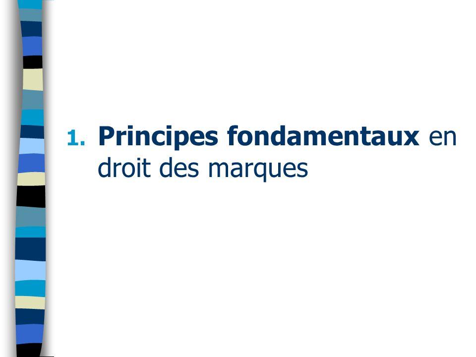 1. Principes fondamentaux en droit des marques
