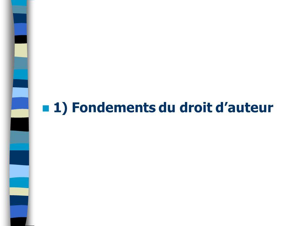 1) Fondements du droit dauteur