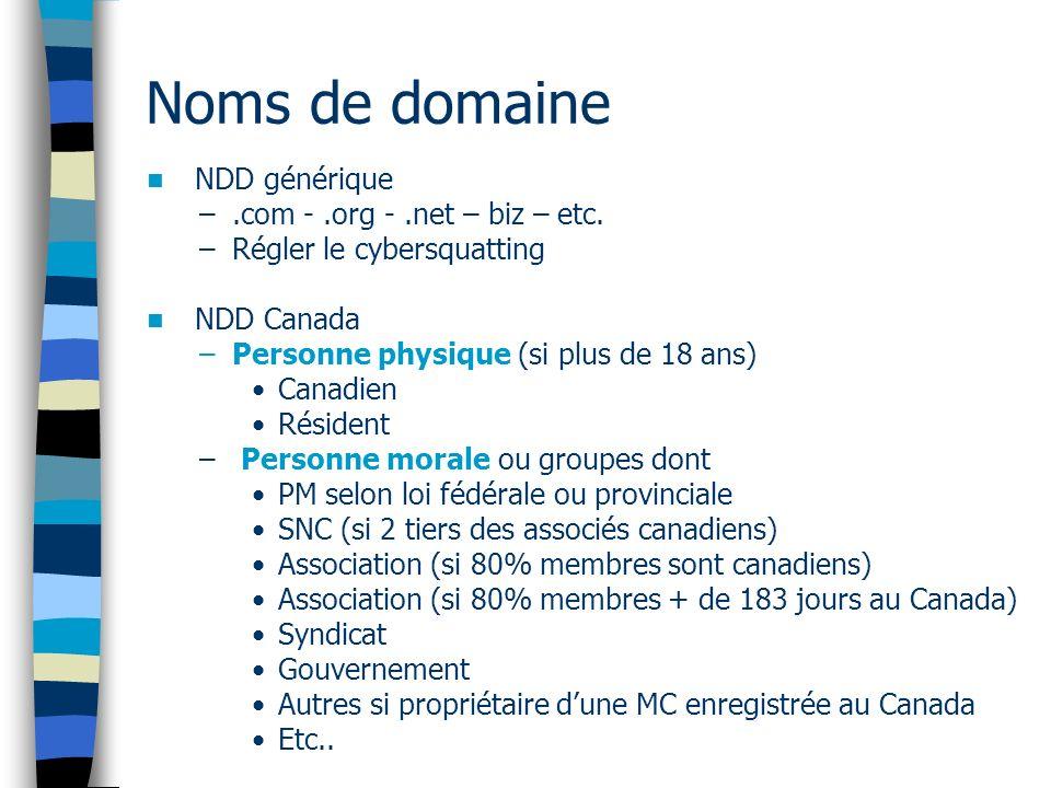 NDD générique –.com -.org -.net – biz – etc.