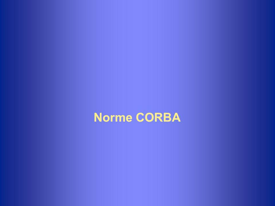 Les communications avec CORBA uLes participants à un échange CORBA communiquent à l aide d un protocole spécifique à CORBA : IIOP (Internet Inter-ORB Protocol).