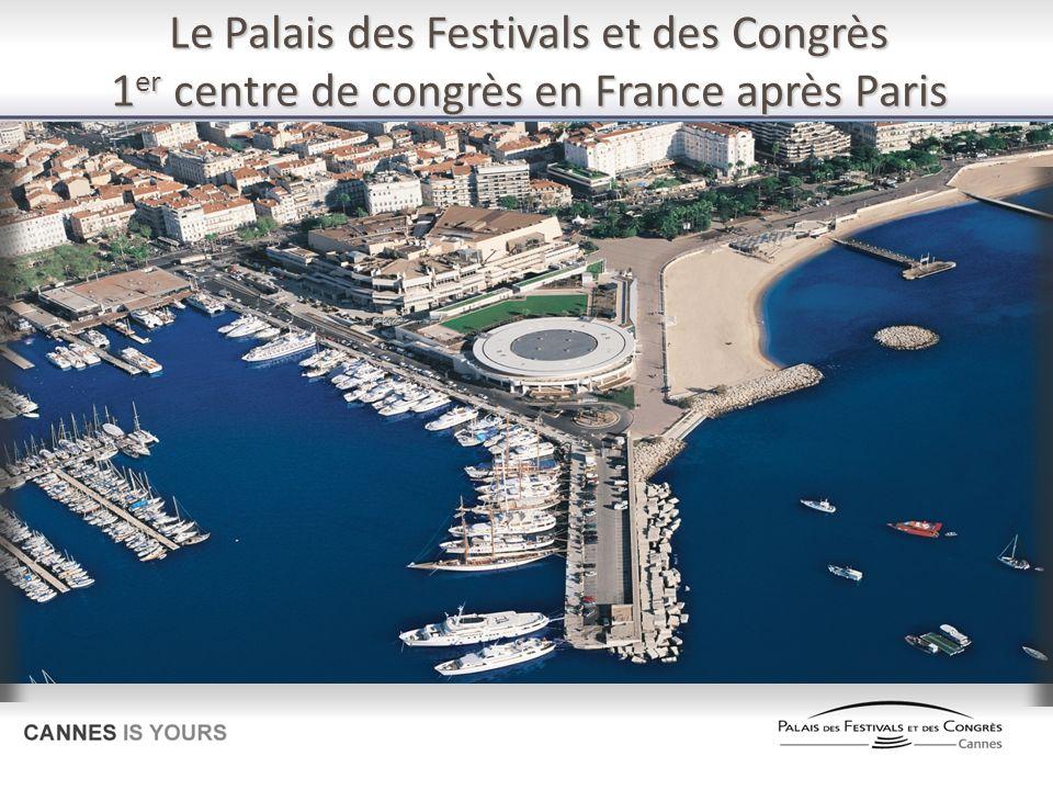 Le Palais des Festivals et des Congrès 1 er centre de congrès en France après Paris