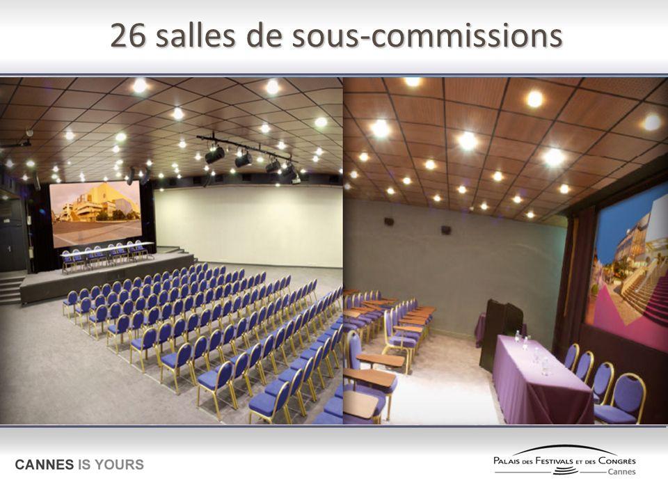 26 salles de sous-commissions