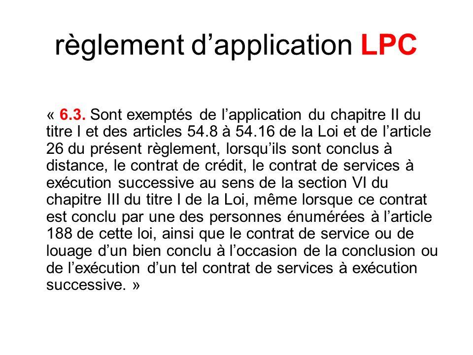 règlement dapplication LPC « 6.3.
