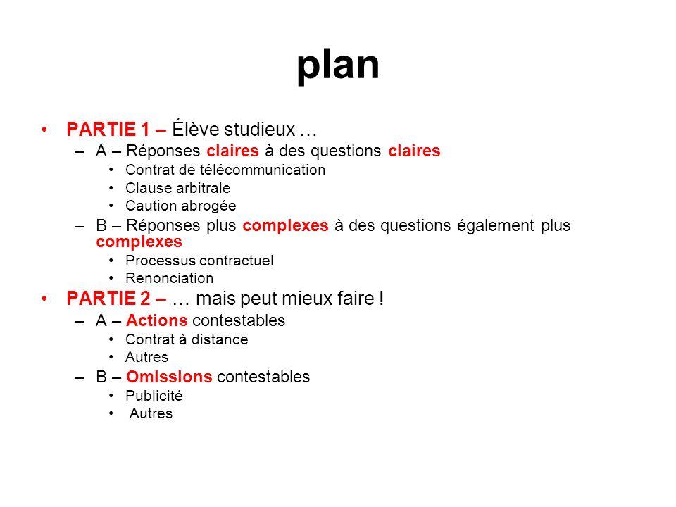 exemple – contrat de crédit après 1.écrit électronique (intégrité) 2.double (72 et 73 LCCJTI) 3.français ???.