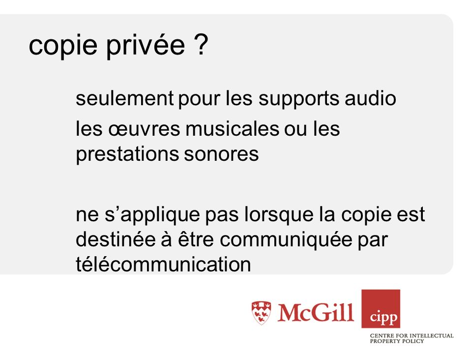 copie privée .