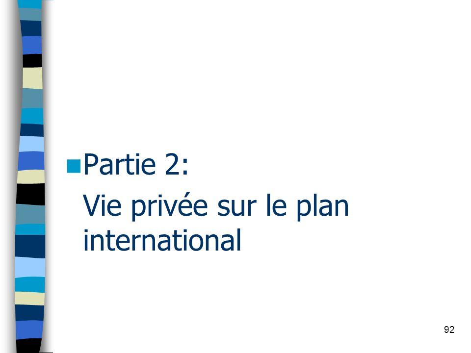 92 Partie 2: Vie privée sur le plan international