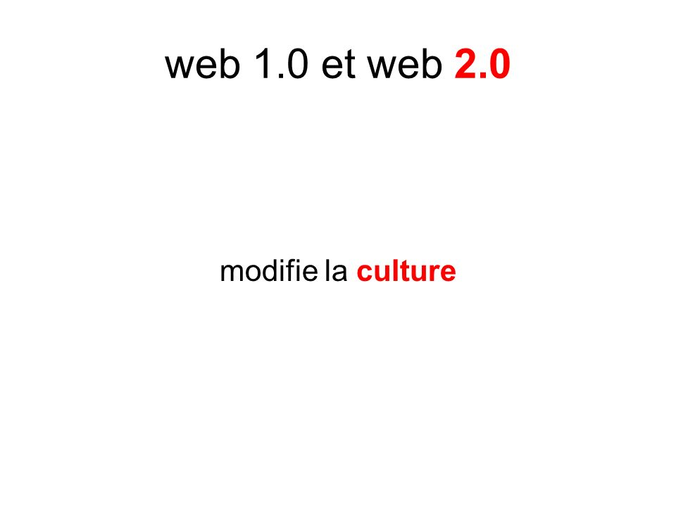 modifie la culture