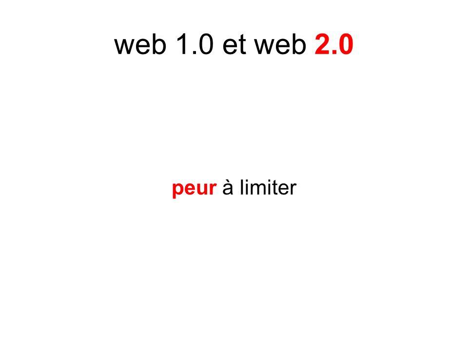 web 1.0 et web 2.0 peur à limiter