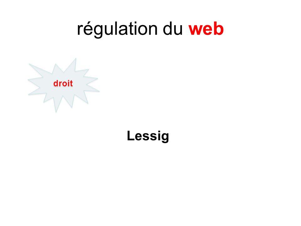 régulation du web Lessig droit
