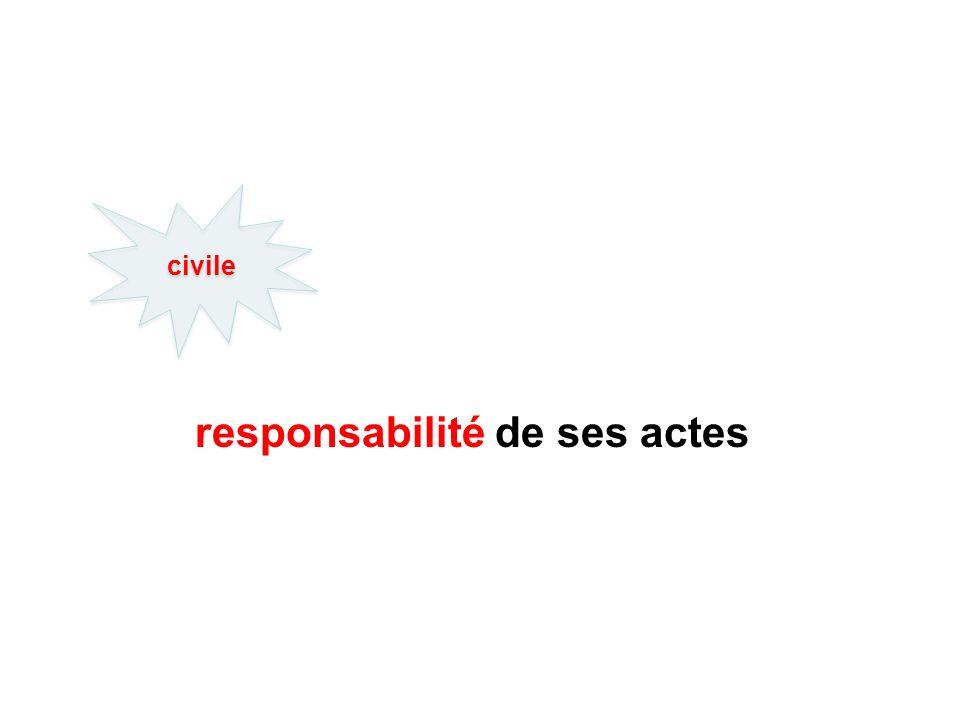 responsabilité de ses actes civile