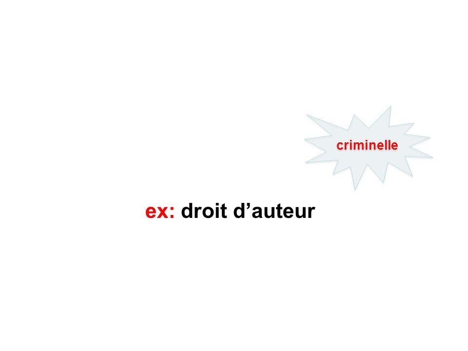 ex: droit dauteur criminelle