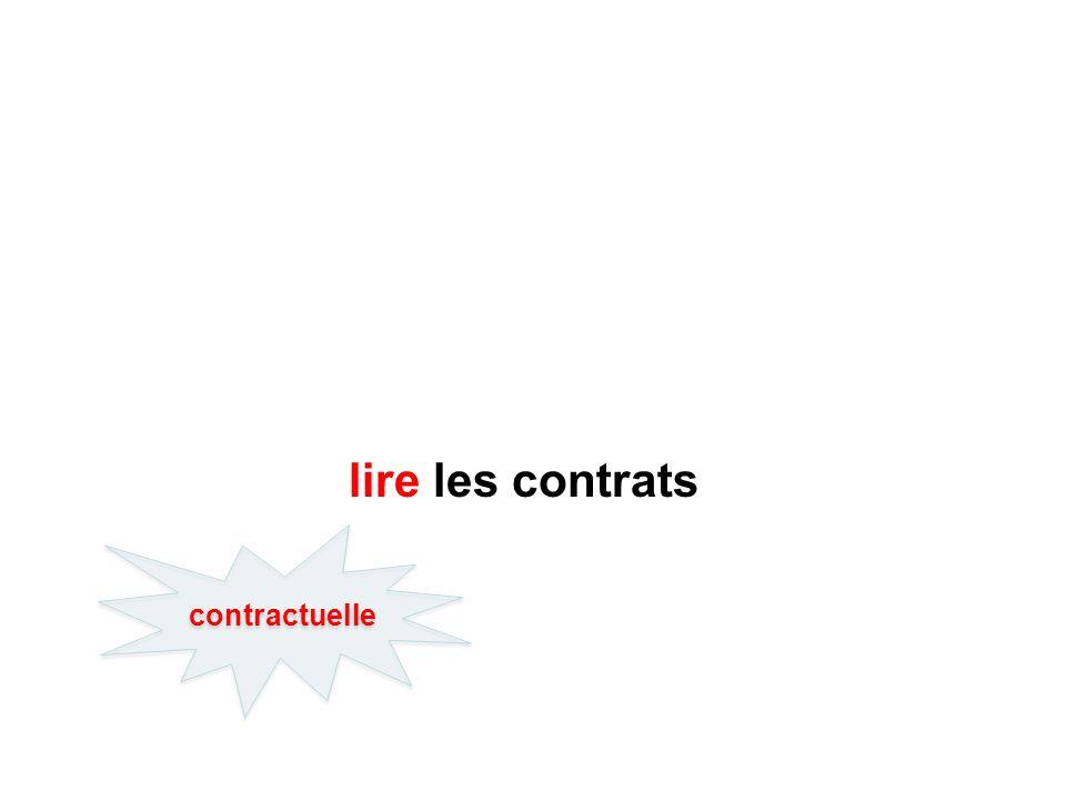 lire les contrats contractuelle