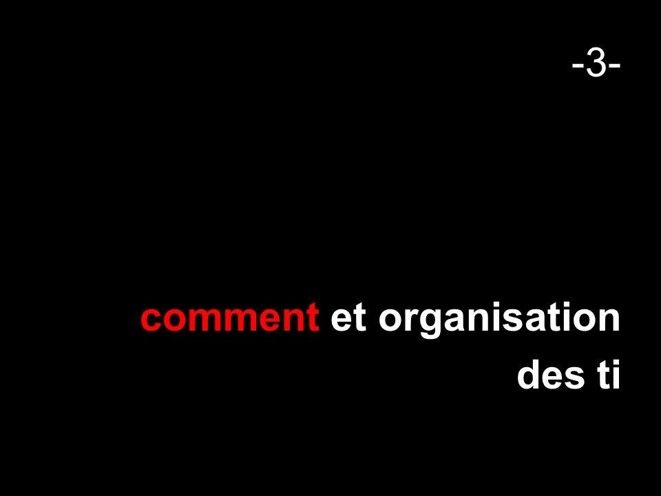 -3- comment et organisation des ti