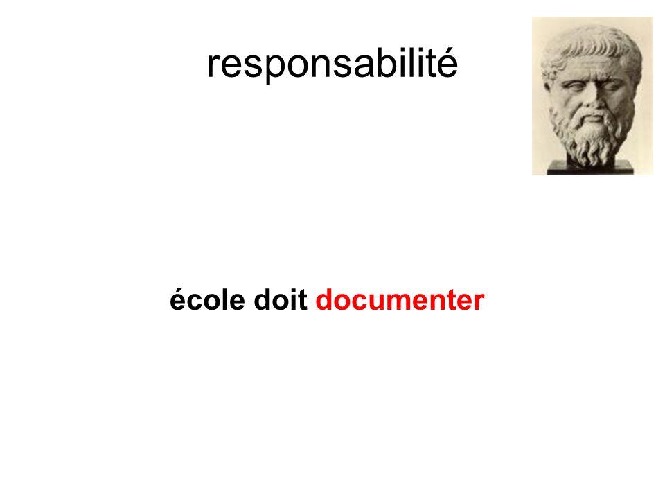 responsabilité école doit documenter