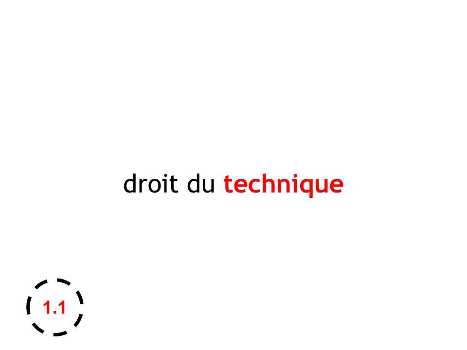 droit du technique 1.1