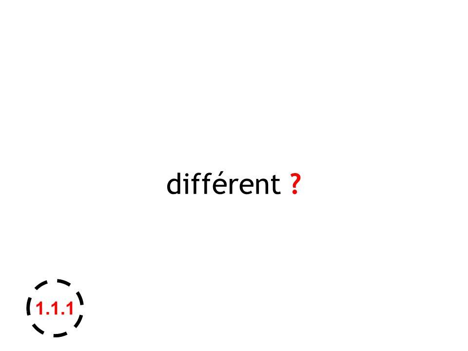 différent ? 1.1.1