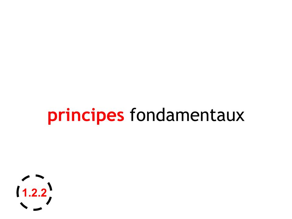 principes fondamentaux 1.2.2