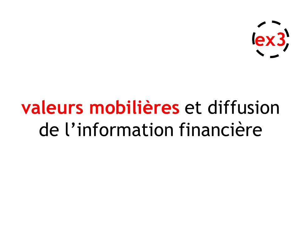 valeurs mobilières et diffusion de linformation financière ex3