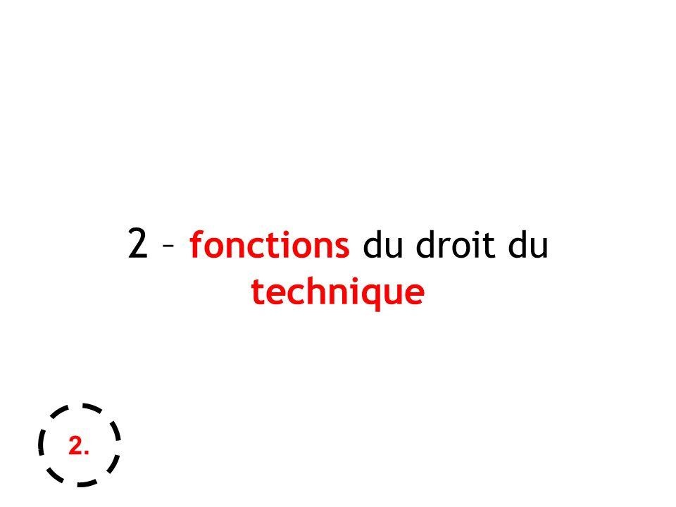 2 – fonctions du droit du technique 2.