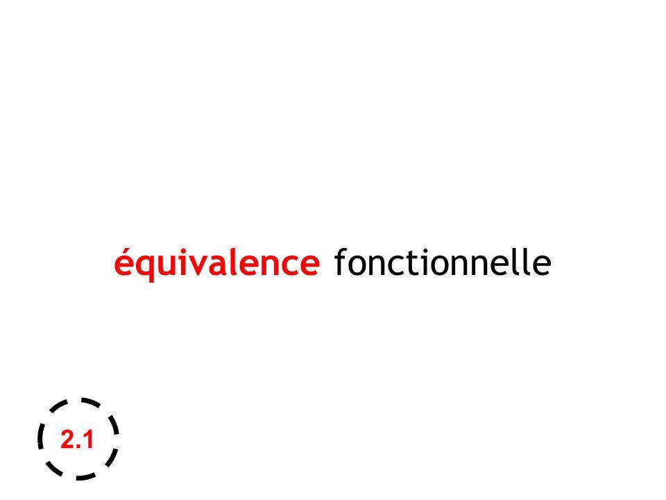 équivalence fonctionnelle 2.1