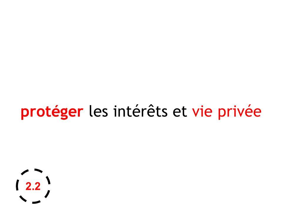 protéger les intérêts et vie privée 2.2