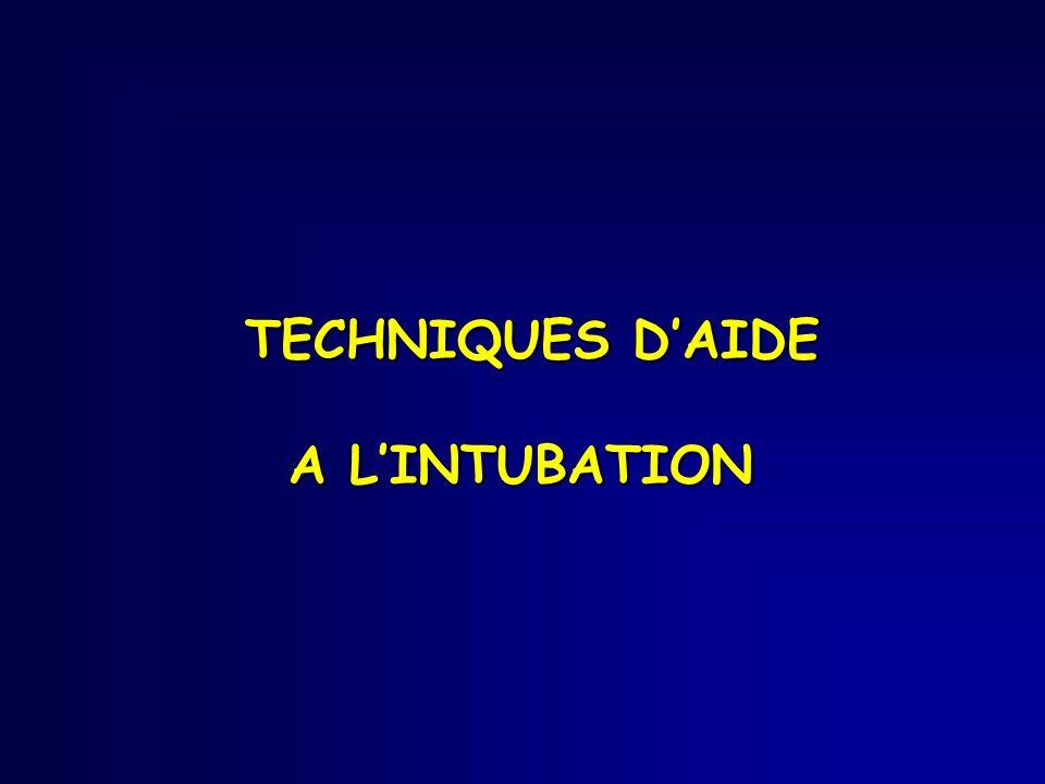 TECHNIQUES DAIDE A LINTUBATION TECHNIQUES DAIDE A LINTUBATION