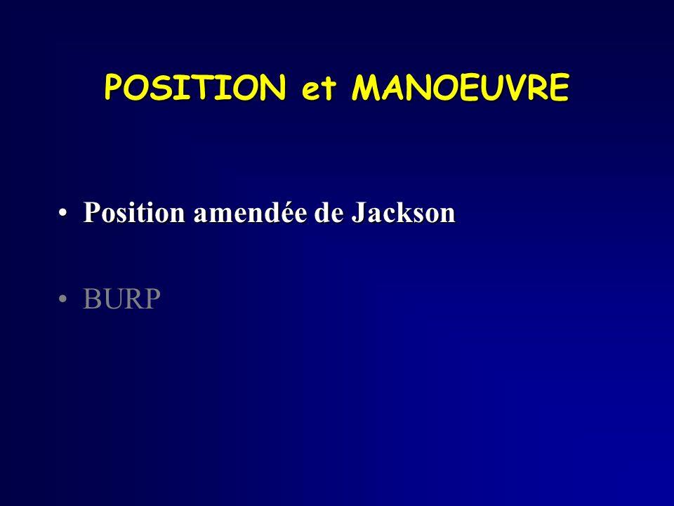 POSITION et MANOEUVRE Position amendée de JacksonPosition amendée de Jackson BURP