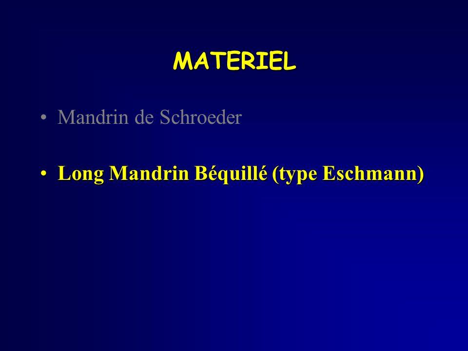 Mandrin de Schroeder Long Mandrin Béquillé (type Eschmann)Long Mandrin Béquillé (type Eschmann) MATERIEL