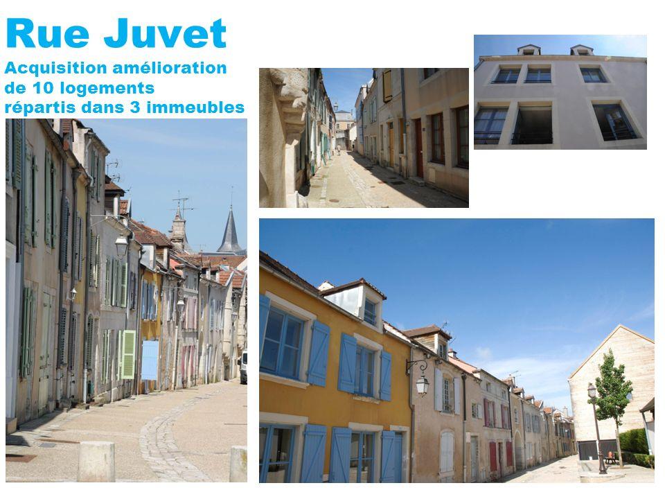 Rue Juvet Acquisition amélioration de 10 logements répartis dans 3 immeubles