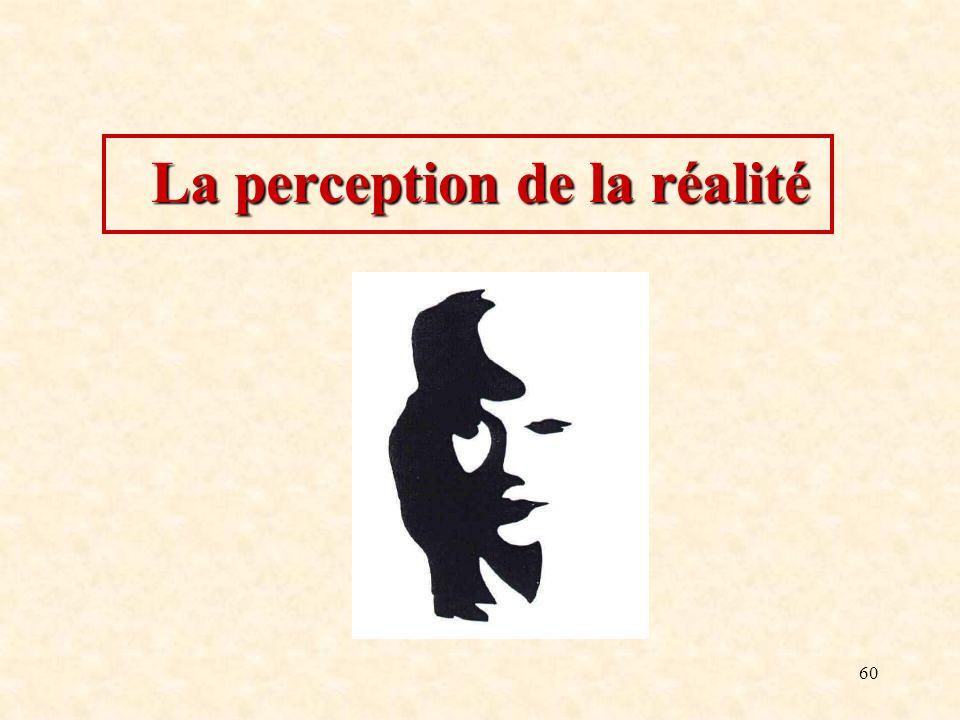 60 La perception de la réalité