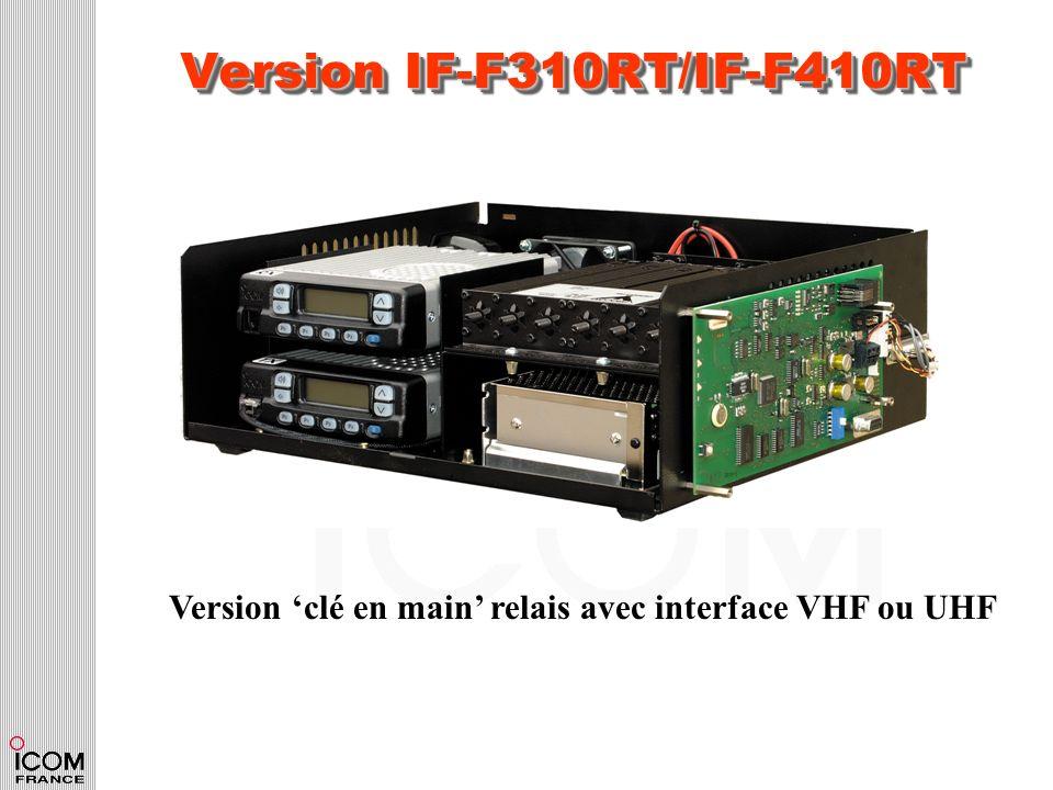 Version IF-F310RT/IF-F410RT Version clé en main relais avec interface VHF ou UHF