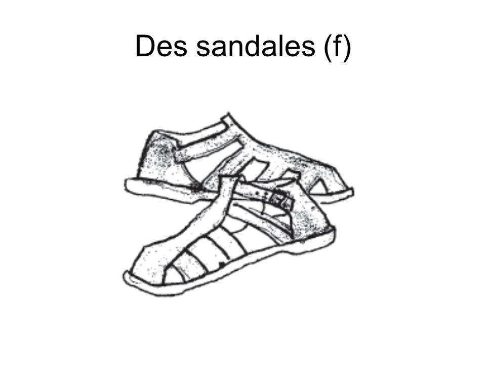 Des sandales (f)